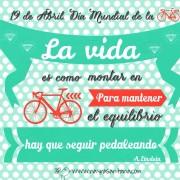 La vida presenta infinitas dificultades pero no dejes de pedalear, es la única manera de poder avanzar. ¿Te atreves?